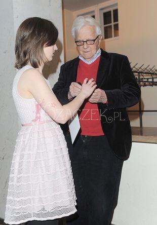 Andrzej Łapicki z żoną i córką (FOTO)
