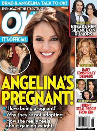 Angelina Jolie zaczęła jeść, bo jest w ciąży