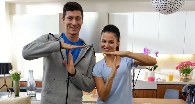 Anna i Robert Lewandowscy w T-Mobile