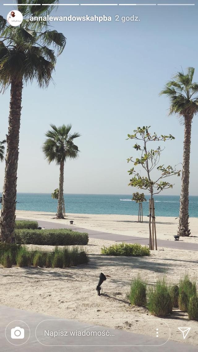 Lewandowscy z Klarą już w Dubaju (Instagram)