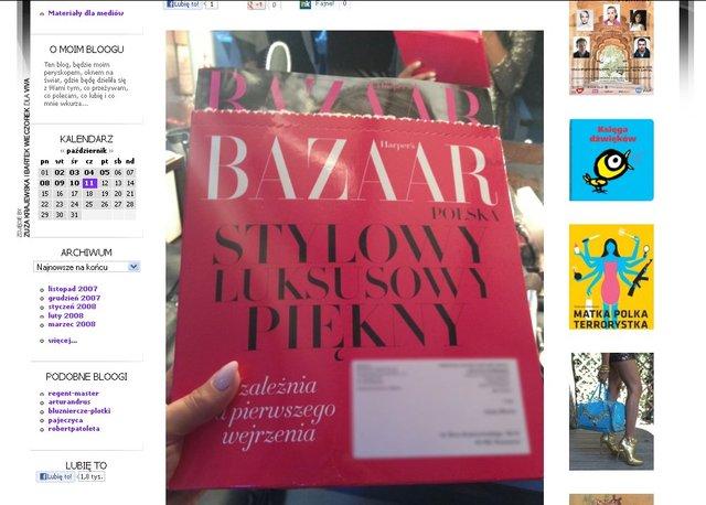 Mucha chwali si� ekskluzywnym numerem Harper's Bazaar