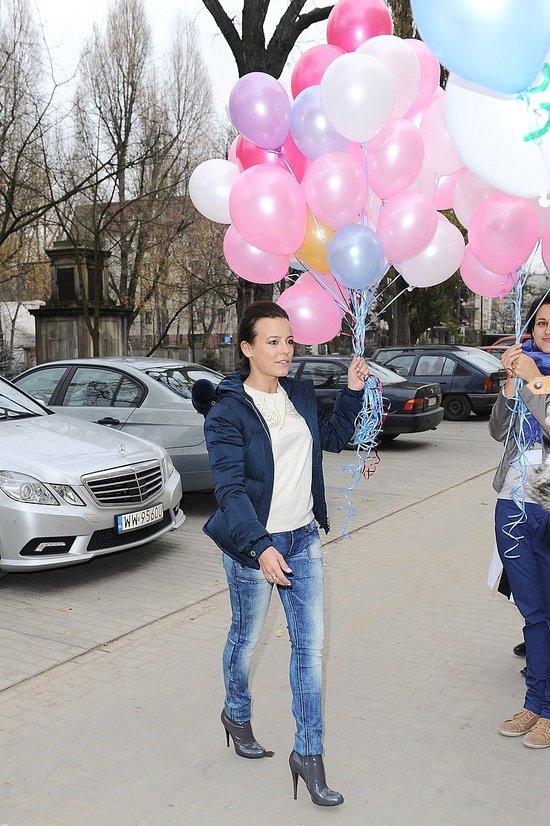 Anna Mucha na spotkaniu z chorymi dziećmi (FOTO)