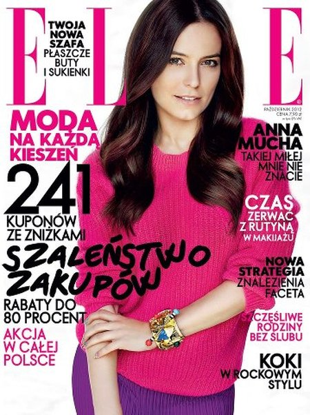 Anna Mucha dojrzewa na okładce Elle (FOTO)