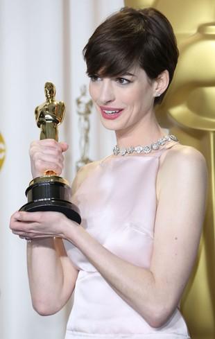 Anne Hathaway ćwiczyła przemowę by zdobyć sympatię