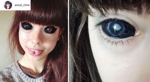 Wytatuowała gałki oczne, teraz traci wzrok