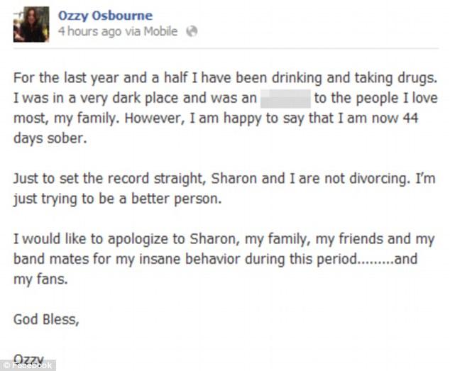 Ozzy Osbourne: Od półtora roku ćpał i pił na umór