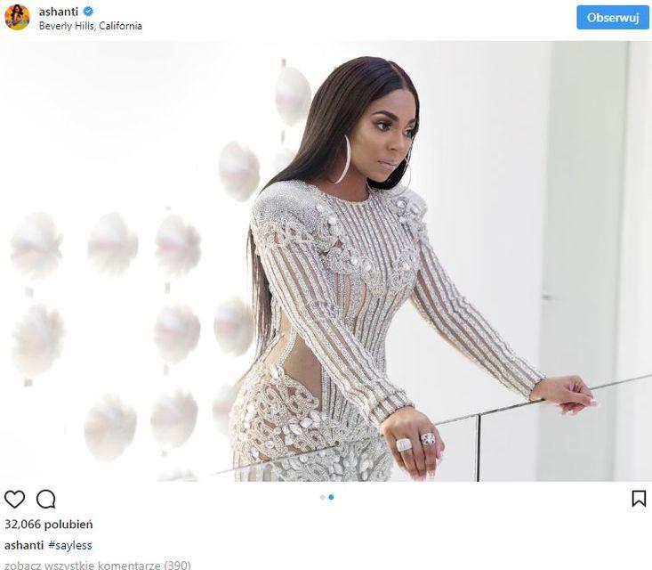 Ashanti w takiej samej sukni jak Kylie Jenner - wygląda LEPIEJ (ZDJĘCIA)