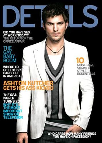 Ashton Kutcher na okładce Details