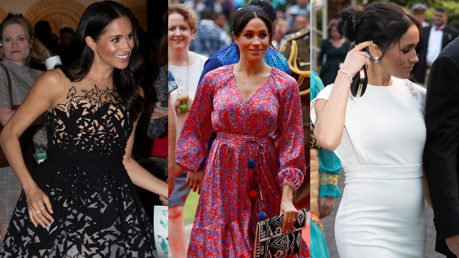 Najlepsze stylizacje księżnej Meghan w czasie podróży do Australii