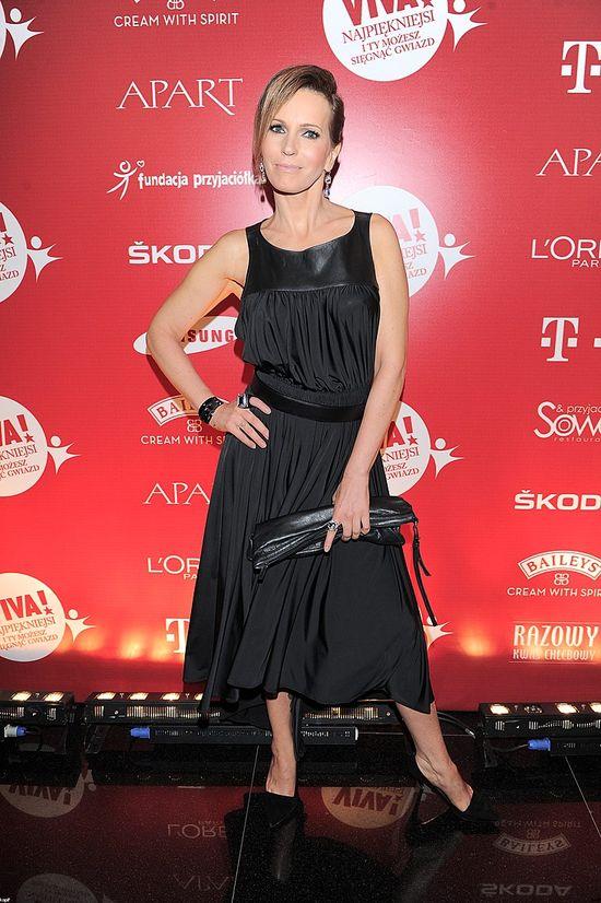 Paulina Smaszcz-Kurzajewska - czarna sukienka