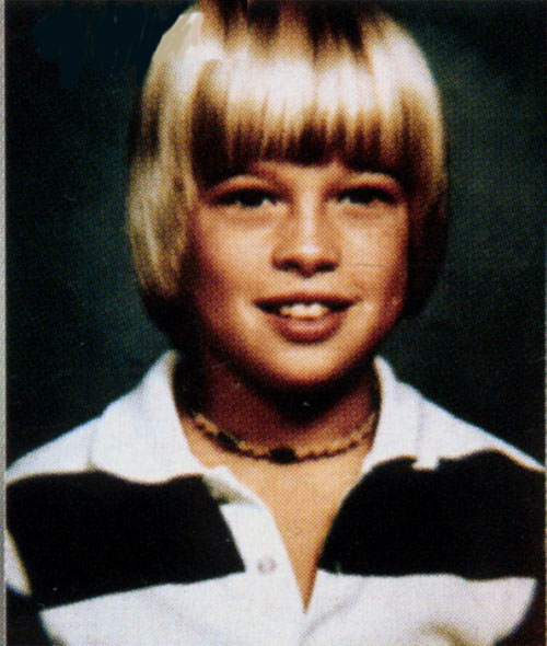 Brad Pitt jako kilkulatek.