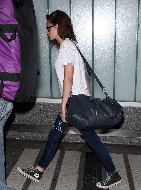 Kristen Stewart na lotnisku w Los Angeles