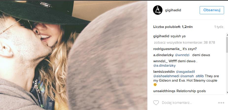 Miłość Zayna i Gigi Hadid na zdjęciach