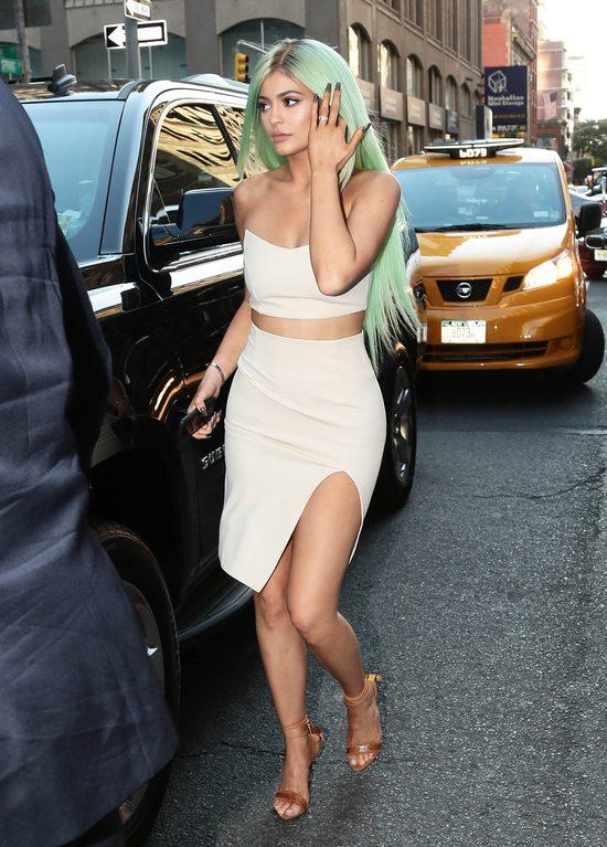 Kylie Jenner, zielone włosy
