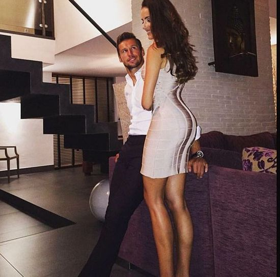 Celia Jaunat i Grzegorz Krychowiak, instagram