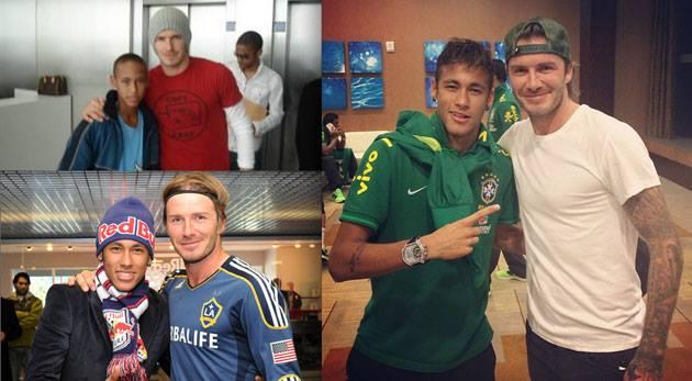 David Beckham ze swoimi chłopakami na finale Mundialu