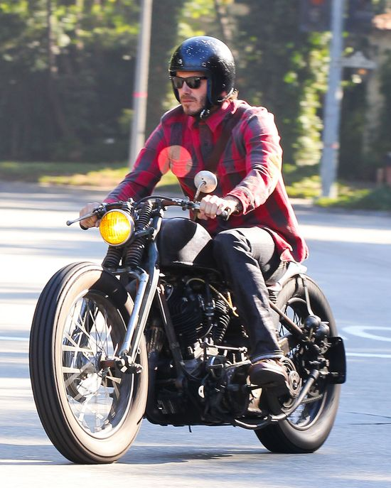 David Beckham na motocyklu (FOTO)