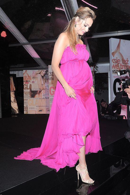 Małgorzata Socha - różowa suknia
