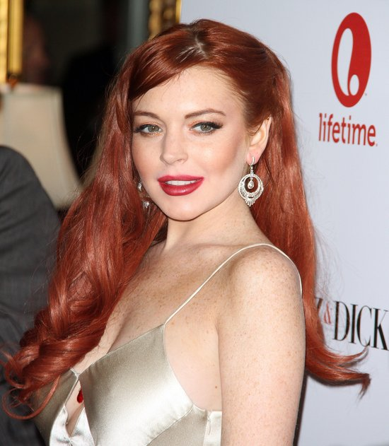 "Lindsay Lohan na premierze filmu ""Liz & Dick"""