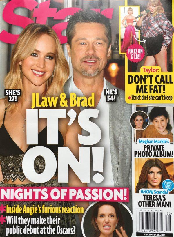 Jennifer Lawrence, Brad Pitt i ich pełne namiętności noce