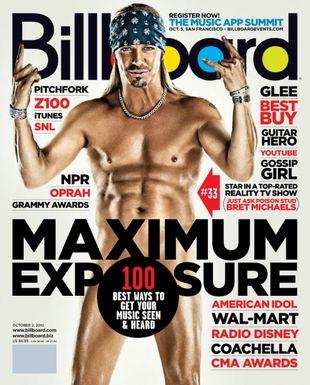 Bret Michaels nago na okładce Billboard Magazine