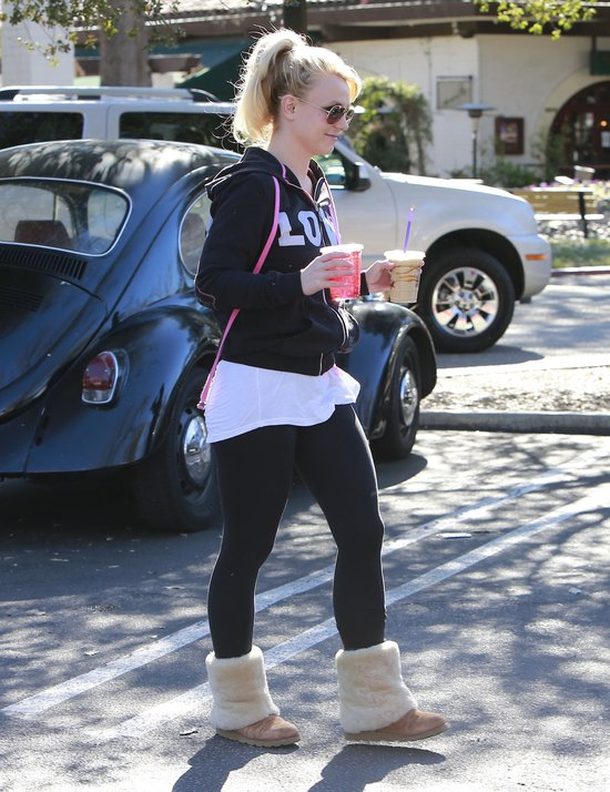 Britney Spears nie wygl�da na z�aman� rozstaniem (FOTO)