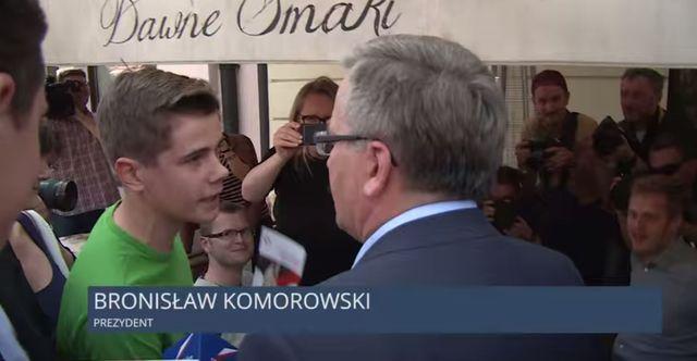 Bronisław Komorowski radzi, jak żyć za 2 tysiące (VIDEO)