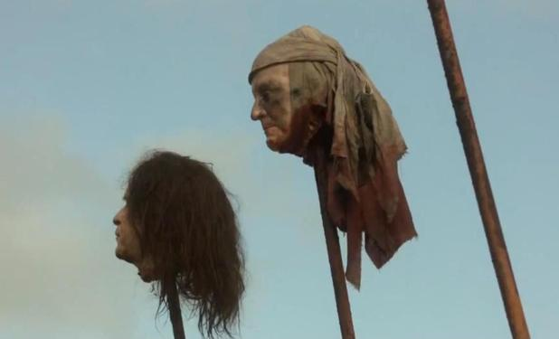 Głowa George'a Busha w serialu Gra o tron