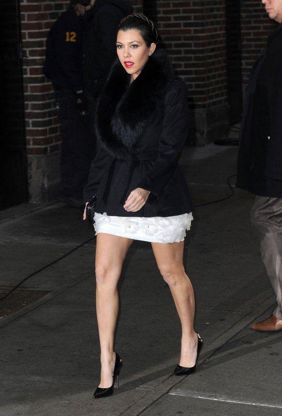 Kourtney Kardashian u Davida Lettermana