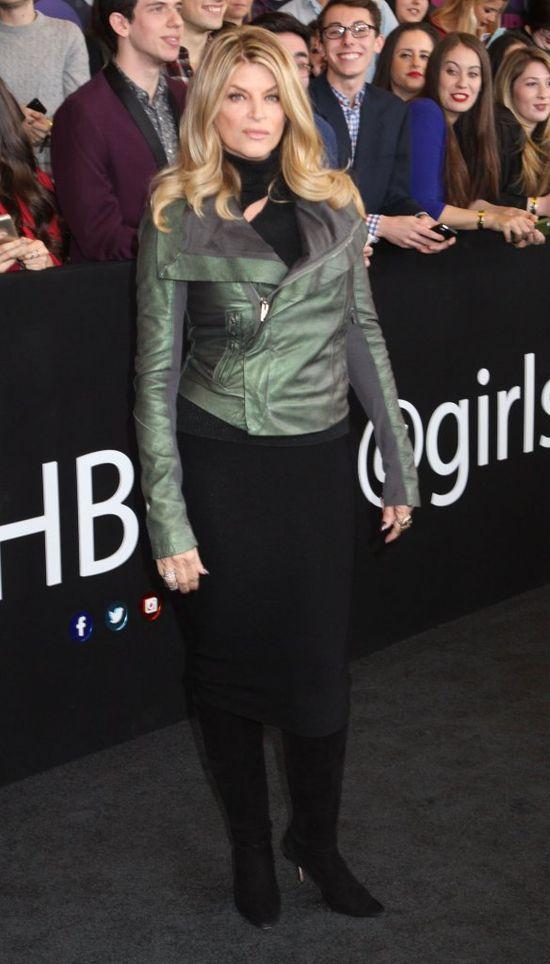 Kirstie Alley w sk�rzanej kurtce, stycze� 2015