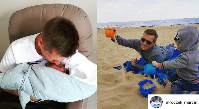 Jak Marcin Mroczek cieszy się z bycia tatą? 10 NAJSŁODSZYCH zdjęć