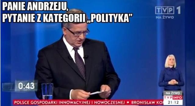 """Panie Andrzeju, pytanie z kategorii """"Polityka""""..."""