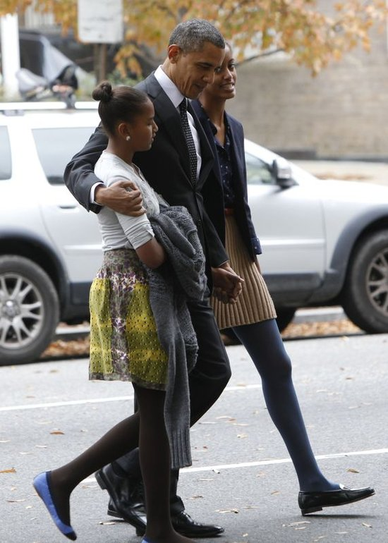Barack Obama z córkami