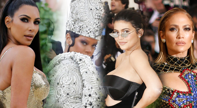 ZJAWISKOWE kreacje na Met Gali 2018: Kardashianki, Rihanna jak papież…