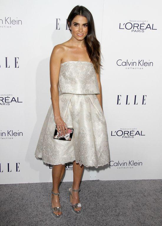 Nikki Reed w srebrnej sukience na gali ELLE