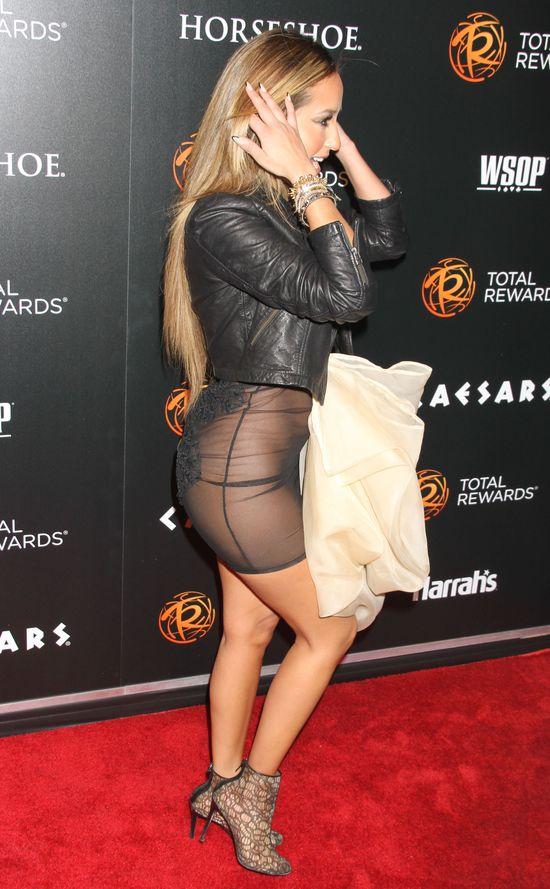 Adrienne Bailon w prześwitującej sukience