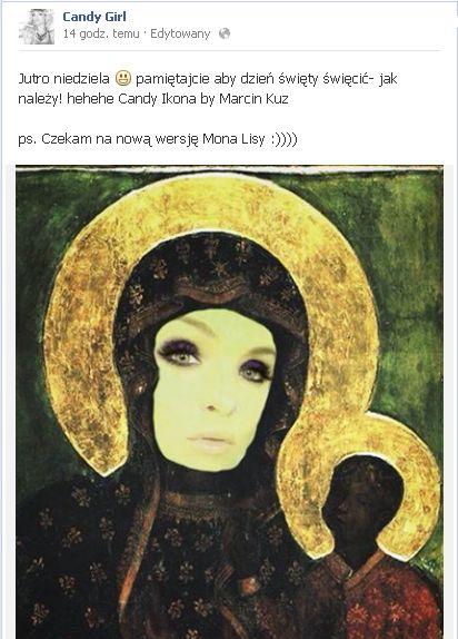 Odezwa Candy Girl do katolików (FOTO)