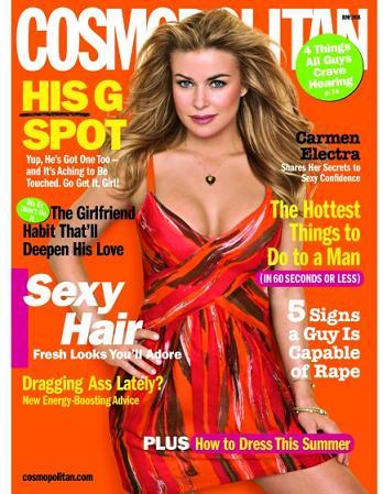 Carmen Electra na okładce Cosmopolitan