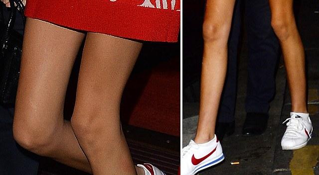 Jej nogi wyglądają już jak patyczki!