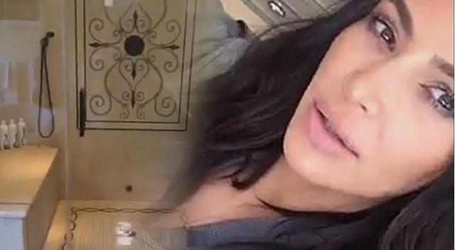 Kim Kardashian pokazała prysznic, w którym uprawiała sex z Humphriesem