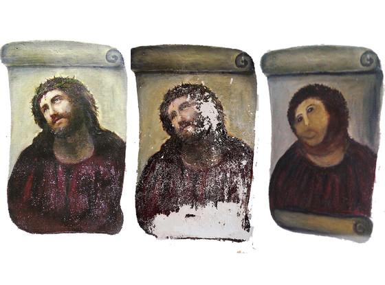 Kobieta która zniszczyła fresk z Jezusem żąda tantiemów