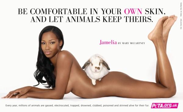 Jamelia wesprze PETA