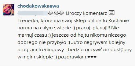 Zarzucaj� Chodakowskiej, �e zarabia na sprzeda�y gad�et�w