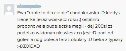 Zarzucają Chodakowskiej, że zarabia na sprzedaży gadżetów