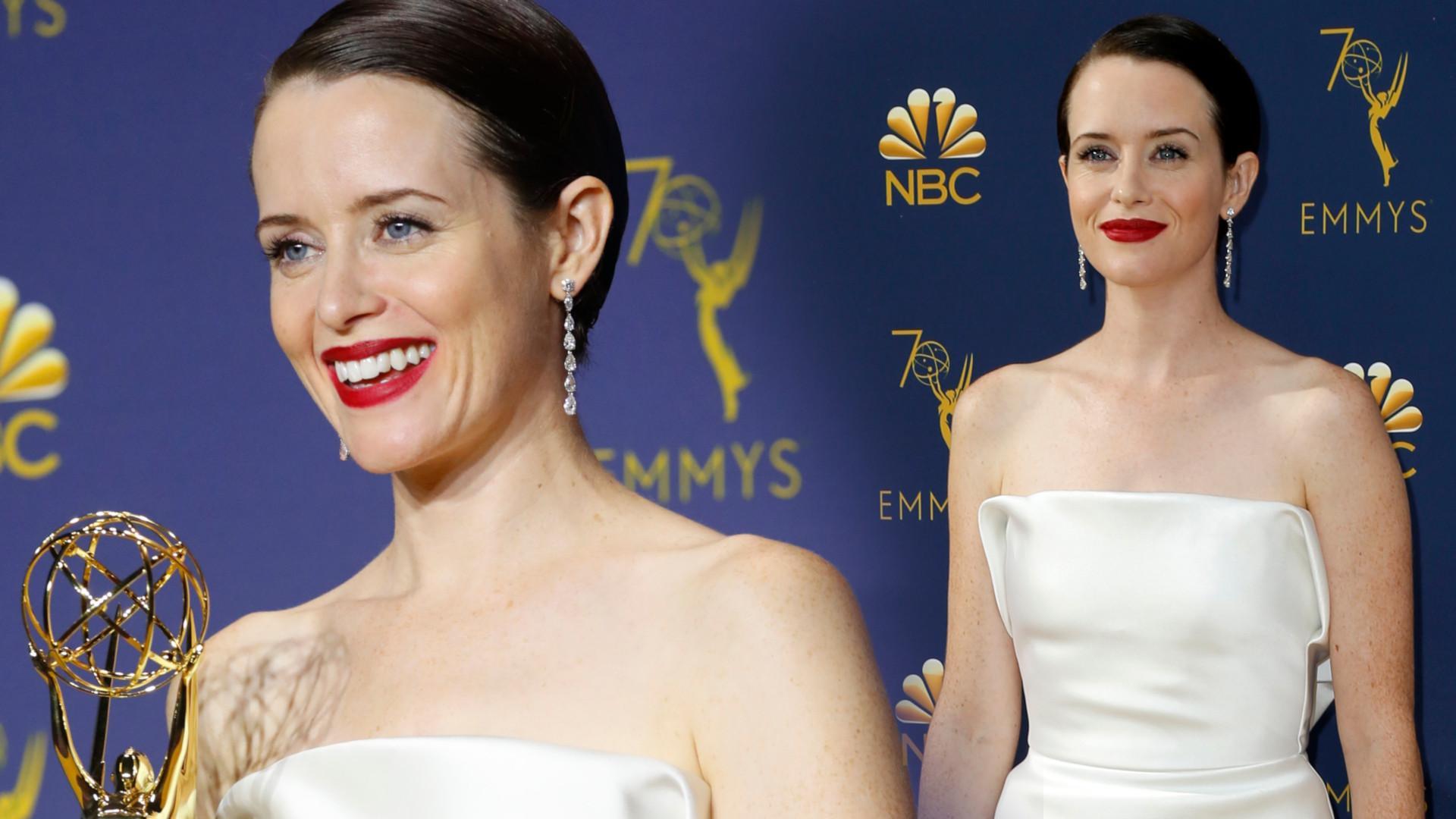 Claire Foy otrzymała nagrodę Emmy za rolę królowej Elżbiety (ZDJĘCIA)