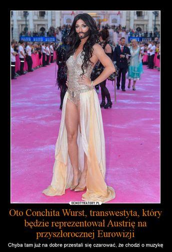 Internet śmieje się z Conchity Wurst (MEMY)
