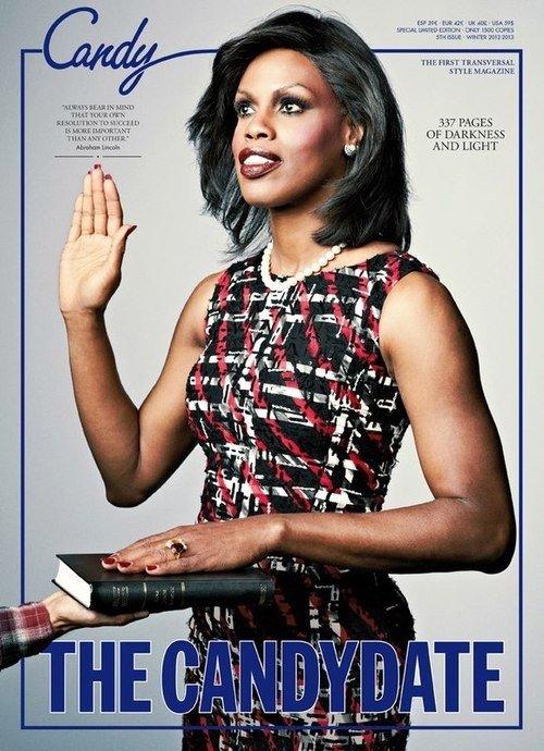 Transseksualistka przebrała się za Michelle Obamę (FOTO)