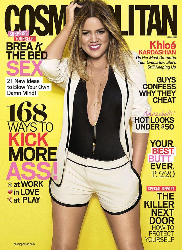 Khloe Kardashian odchudzona na okładce Cosmo (FOTO)