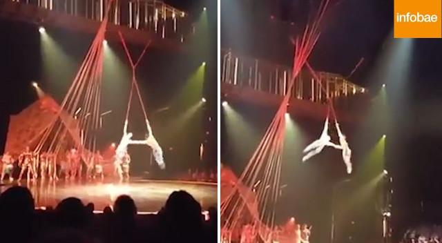 Śmiertelny wypadek w cyrku Cirque du Soleil – akrobata spadł na ziemię