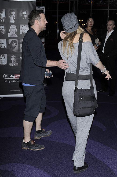 Czesław Mozil i Anna Cieślak razem na premierze Obławy (FOTO